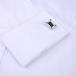 Image 3 - Men French Cufflinks Shirt 2020 New Mens Stripes Shirt Long Sleeve Casual Male Brand Shirts Slim Fit French Cuff Dress Shirts