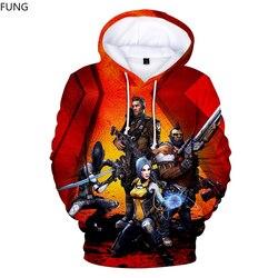 Borderlands 3 Hoodie Men/Women Sweatshirt Harajuku Streetwear TV Games 3D Print Cosplay Hooded Pullover Mens Hoodies Sweatshirts 2