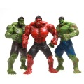 1 unids 25 cm marvel super hero the avengers película gigante Incredible Hulk Figuras de Acción Juguetes PVC Cobrable Rojo Modelo Muebles Niño
