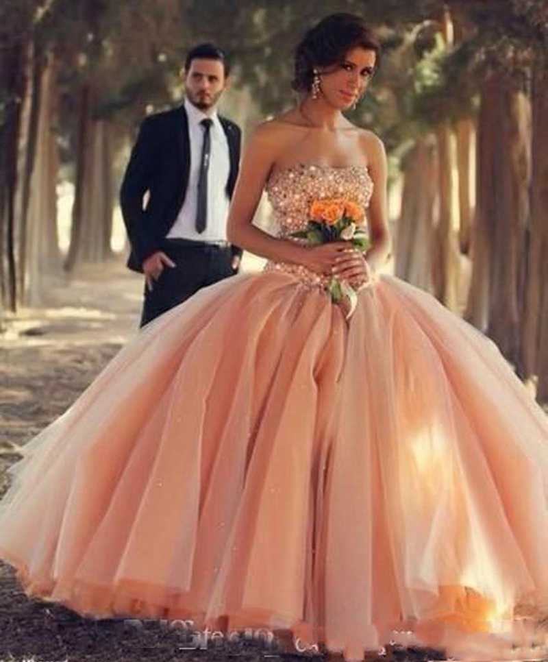 Pink Quinceanera Dresses Prom Dress Ball Gown 2018 Beaded Vestidos De 15 Anos Sweet 16 Dress Debutante Gowns Dress For 15 Years