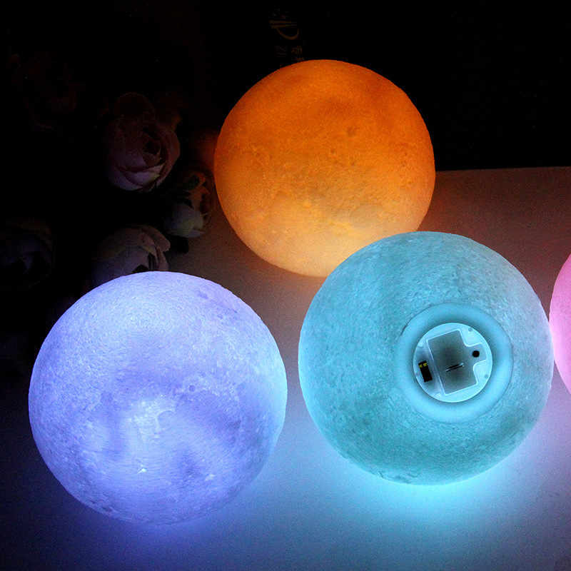 Led Children's Night Light Lighting Toy Lamp Silicone 3D Moon Luminous Toy Children Cartoon Led Night Sky Night Lights