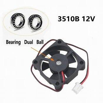 Gdstime 20 pcs DC 12V Two Ball bearing 3510 35mm x 10mm Mute Brushless Cooler Cooling Fan 35x35X10mm Micro Radiator 2Pin