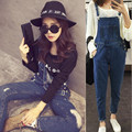2016 summer women's casual denim overall strap pants sling jeans jumpsuits trousers