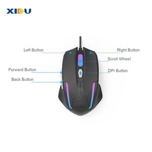 Image 2 - Xidu マウス usb 3.0 有線ゲームマウス調整可能な光学コンピュータマウスとノート pc 用 led ライト