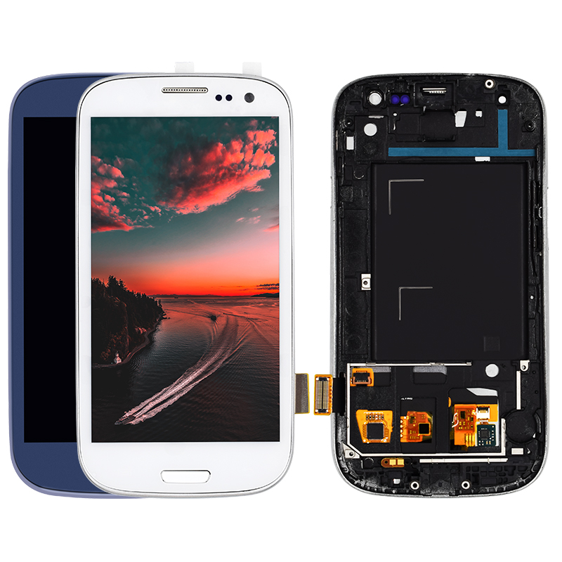 For Samsung Galaxy S3 i9300 LCD with Touch Screen i9300 LCD Display Glass Panel Digitizer Assembly with Frame Repair ReplacementFor Samsung Galaxy S3 i9300 LCD with Touch Screen i9300 LCD Display Glass Panel Digitizer Assembly with Frame Repair Replacement