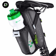 Rockbros MTB Road Bike Bag Waterproof Bicycle Saddle Bag Black Cycling Rear Seat Tail Bag Water Bottle Pocket Bike Accessories