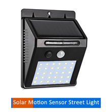 цена на 30LED Solar Panel Powered LED Light Infrared PIR Motion Sensor Lamp Night Light Garden Decor Wall Lamp Energy Saving street wall
