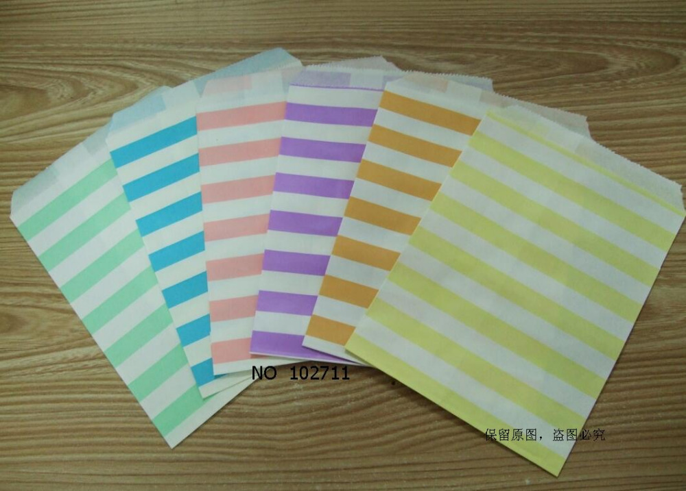 1pack 12 pastel paper bag flat wedding party favor candy for Craft paper gift bags