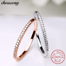 choucong infinity ring Real 925 Sterling Silver Wedding band Ring for Women AAAAA Cubic Zirconia Bridal Engagement rings Gift