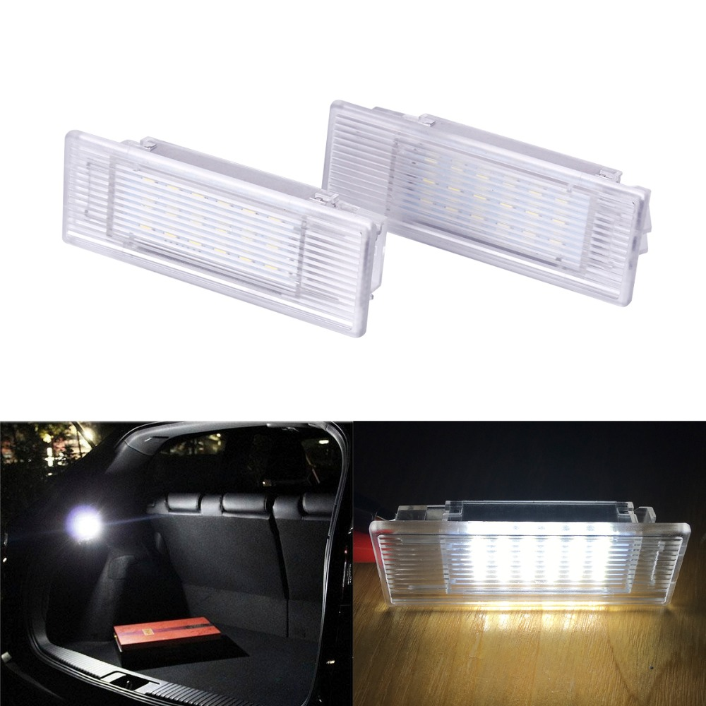 2Pcs Led Foot-well Luggage Trunk Interior Light Glove Box Lamp No Error 24SMD for BMW X5 E46 E39 E82 E88 E90 E91 E92 E53 F10 F01 2pcs 12v 31mm 36mm 39mm 41mm canbus led auto festoon light error free interior doom lamp car styling for volvo bmw audi benz