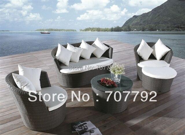Todo tipo de Clima de Caléndula de jardín Al Aire Libre muebles de ratán Sofá Set en Jardín Sofás de Muebles en AliExpress.com | Alibaba Group