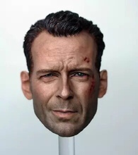 цена на 1/6 Bruce Willis Head Sculpt John McClane Die Hard Bashing For Hot Toys Phicen Dolls