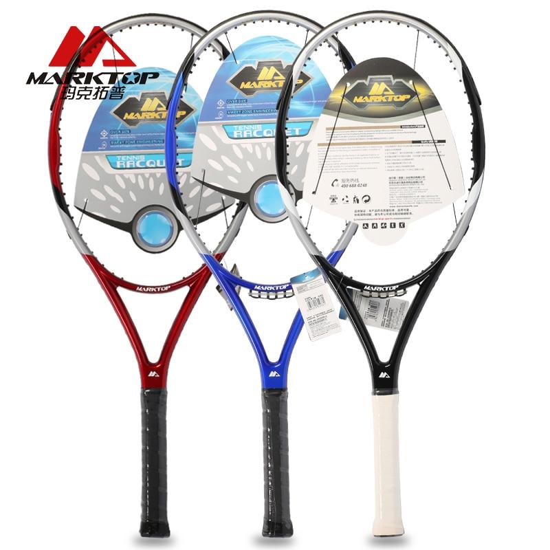 Marktop Raquettes De Tennis En Fiber De Carbone En Alliage D'aluminium de Raquette Adulte Aucun Réseau Tennis De Formation Raquette Haute Qualité M3225