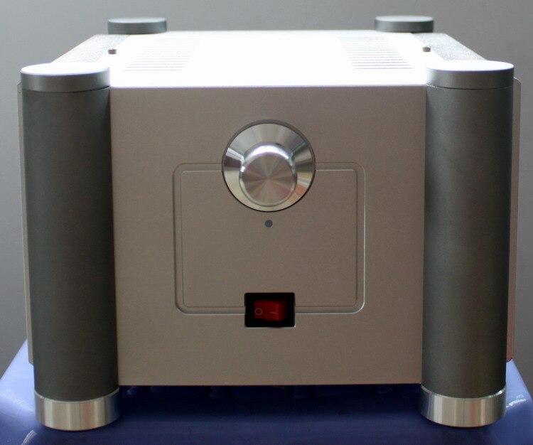 Tüketici Elektroniği'ten Hoparlör Aksesuarları'de WA25 Son çift katmanlı alüminyum radyatör amplifikatör şasi Muhafaza kutusu DIY title=