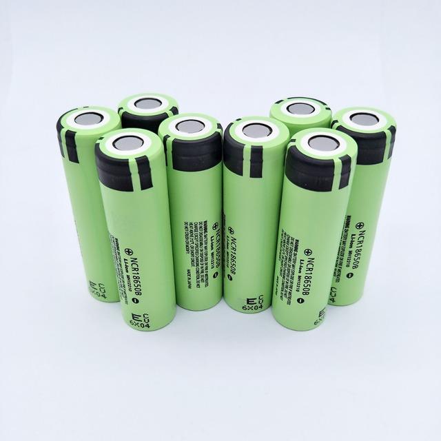 8pcs/lot New Original NCR18650 3400 34B Rechargeable Li-ion battery 3.7V 18650 3400mAh battery