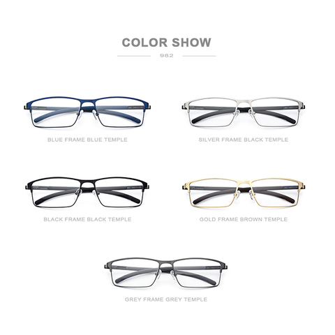 Titanium Alloy Eyeglasses Frame Men Full Square Myopia Optical Prescription Glasses Frame Male Metal Korea Screwless Eyewear 982 Multan