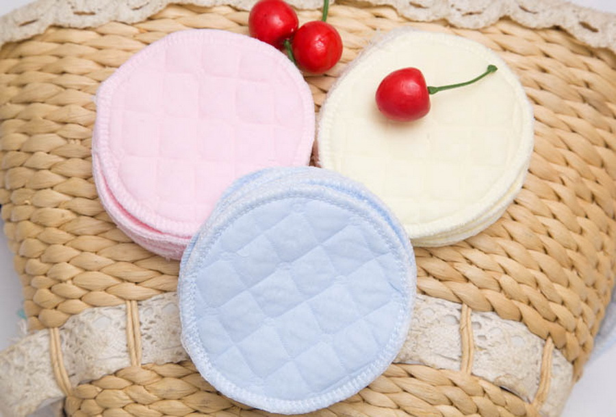 DHL 2000PCS 3 layers cotton Reusable Breast Pads Nursing Waterproof Organic Plain Washable Pad Baby Breastfeeding
