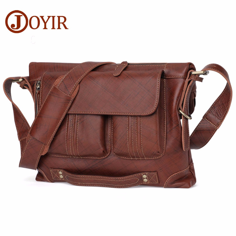 JOYIR Genuine Leather Bag Men Messenger Bags Multifunctional Handbag Briescase Business Men School Shoulder Crossbody Bag Bolsas ograff genuine leather bag men messenger bags handbag briescase business men shoulder bag high quality 2018 crossbody bag men
