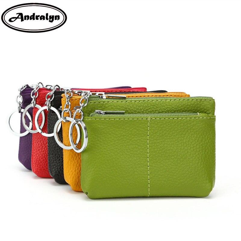 Andralyn из натуральной кожи портмоне Для женщин маленький кошелек, кошельки детская карман кошельки Key Holder мини-сумка на молнии ...