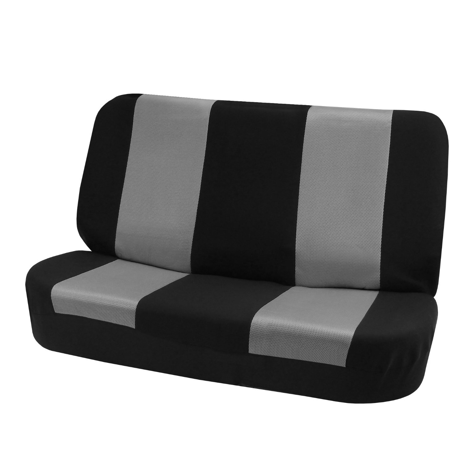 Hot Selling Classic Cloth Bench Seat Covers Gray / Black Color