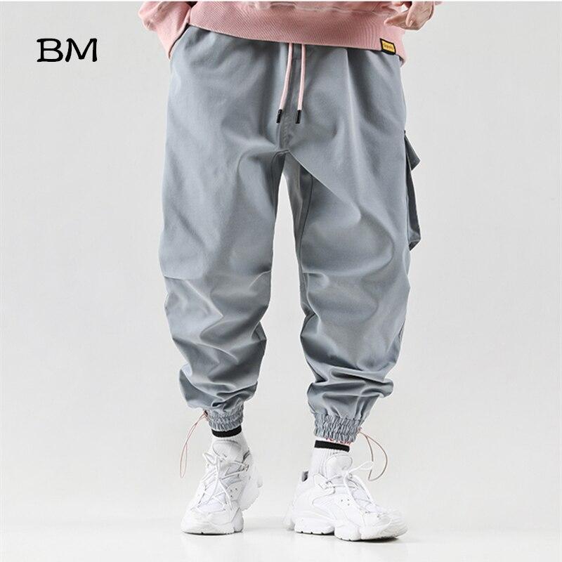 Hip Hop Sweatpants Korean Style Joggers Men Streetwear Baggy Pants Modis Harajuku Fashion Trousers Kpop Khaki Casual Pants
