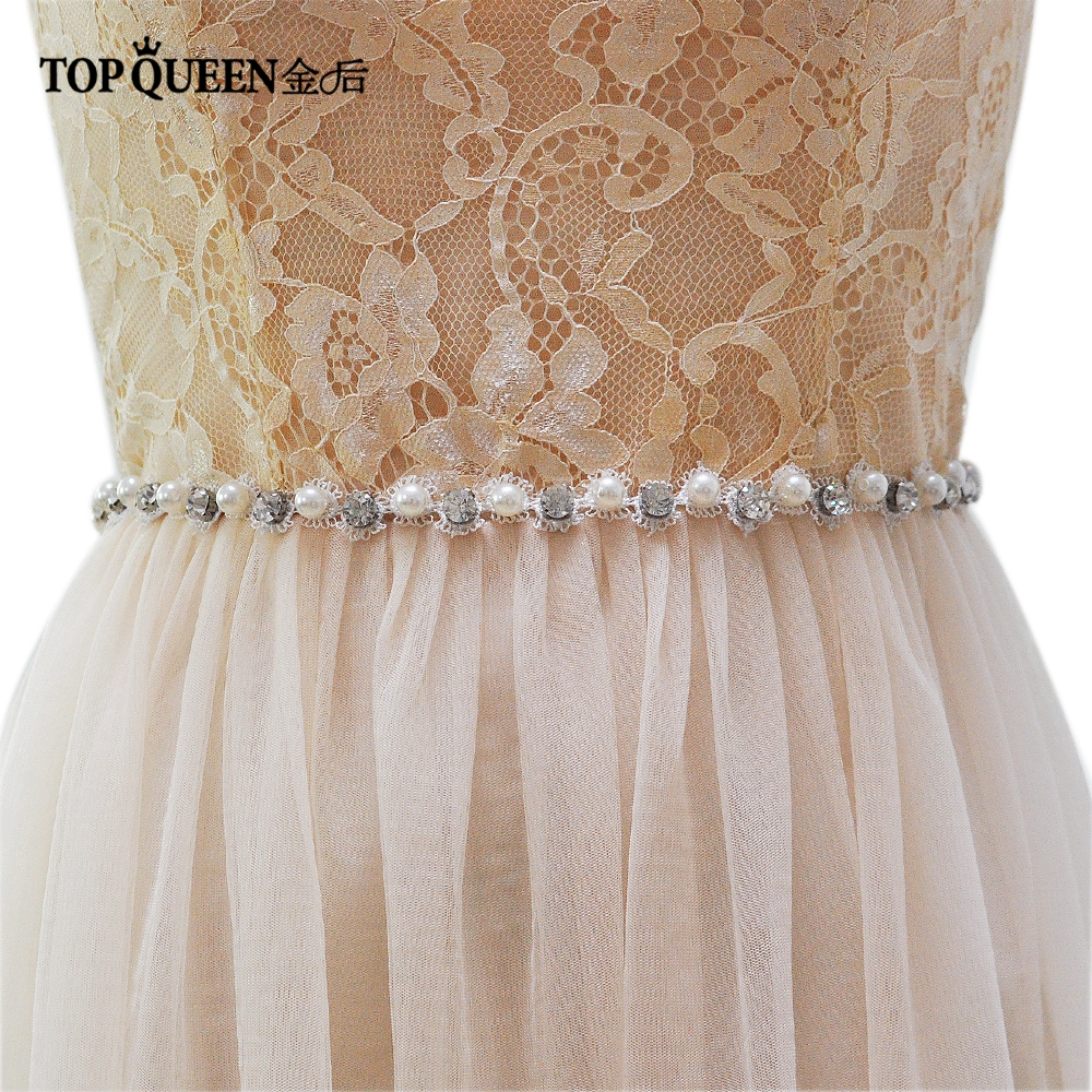 Superior Materials Bridal Blets Wedding Accessories Considerate Topqueen S71 Wedding Belts Free Shipping Rhinestones Pearls Wedding Sashes Rhinestones Pearls Bridal Belts Bridal Sashes