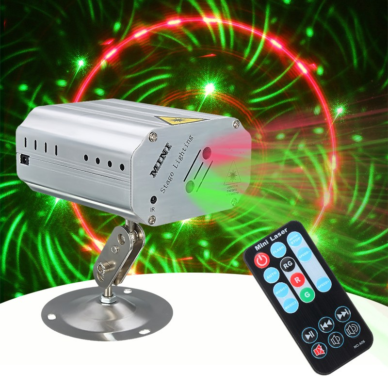 Adjustment Sound Control LED RGB Light Projector Laser Stage Lighting Effect DJ Disco Party Club KTV Night Lamp Bulb US EU Plug transctego laser disco light stage led lumiere 48 in 1 rgb projector dj party sound lights mini laser lamp strobe bar lamps page 6