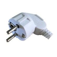 1 шт. Белый Черный ЕС Германия Европа европейский стиль съемный Rewirable plug EU KR адаптер питания съемные электрические вилки