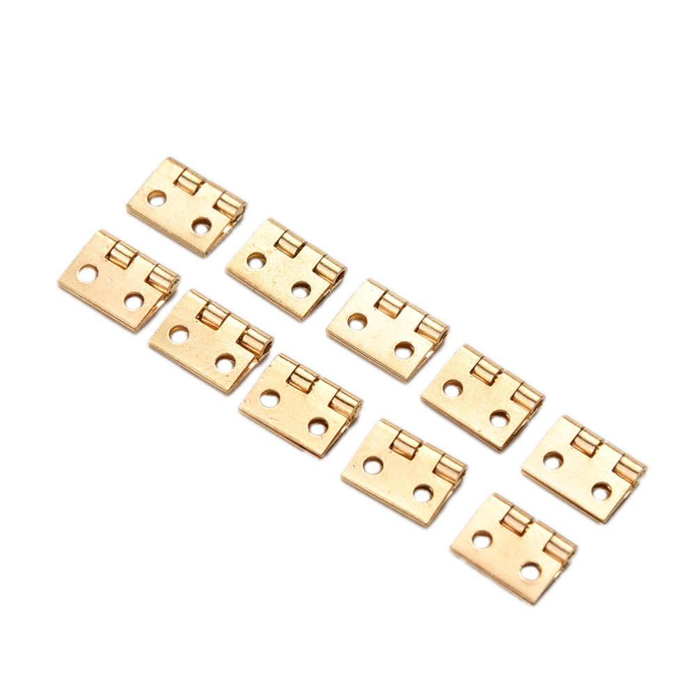 10 ชิ้น/ล็อต 10*8 มม.Mini ตู้ลิ้นชักบานพับบานพับทองแดง 4 ขนาดเล็กบานพับมือเครื่องมือฮาร์ดแวร์