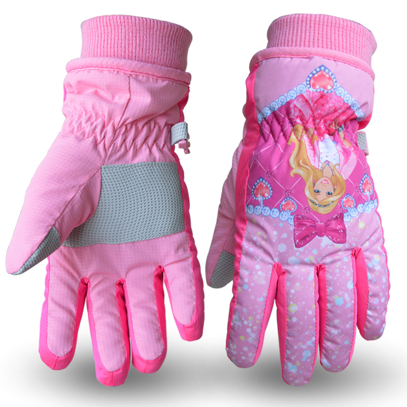 Aktiv Dornröschen 2017 5-12years Alt Schnee Weiß Mädchen Ski Handschuhe Kinder Schnee Handschuhe Kinder Winter Handschuh Junge Wasserdichte Pock Letzter Stil