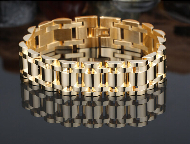 Tyrant Gold Jewelry Imitation Men S Rolex Bracelet High Grade Anium Steel Bangle In Chain Link Bracelets From