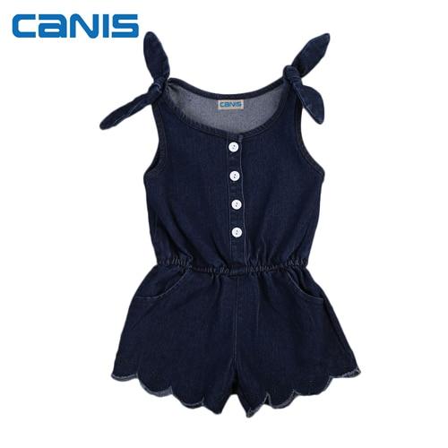 760c4e2f2 Newborn Toddler Kids Baby Girls Romper Denim Sleeveless Ruffles Romper Girls  Summer Romper Jumpsuit Outfits