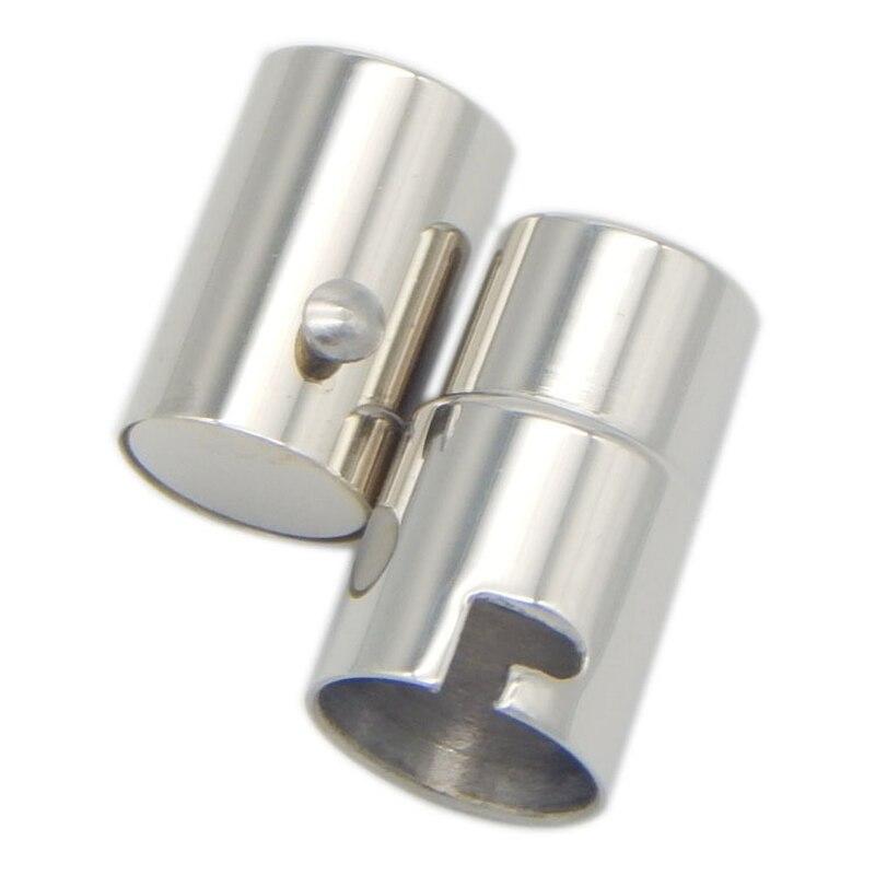 1PC zapięcie magnetyczne ze stali nierdzewnej 316L pasuje do Dia 3mm 10mm okrągły skórzany sznur koniec klamrami DIY wyrób biżuterii bransoletka naszyjnik