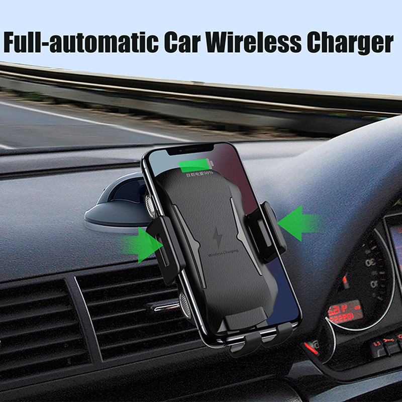 Automatic Car Mount Qi Wireless Charger for Samsung Galaxy S10 S8 S9 Plus Case Mobile Accessories Fast Charging Car Phone HolderAutomatic Car Mount Qi Wireless Charger for Samsung Galaxy S10 S8 S9 Plus Case Mobile Accessories Fast Charging Car Phone Holder