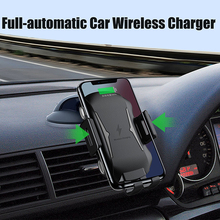 Automatic Car Mount Qi Wireless Charger for Samsung Galaxy S10 S8 S9 Plus Case Mobile