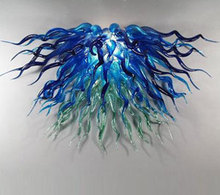 Modern Best Decoration LED Light Source Dale Chihuly Style Hand Blown Glass Hanging Chandelier