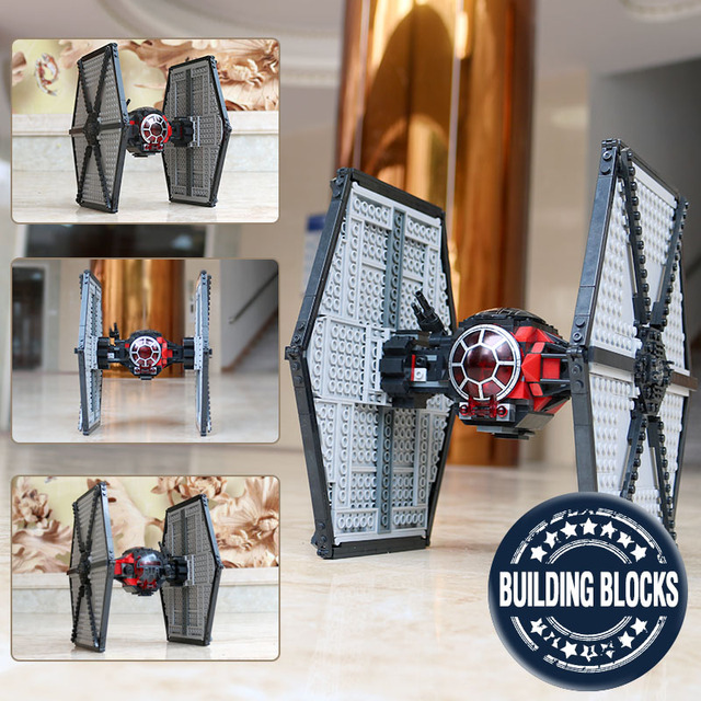05005 Star First Order Tie Fighter Model Compatible With Legoingly 75101 Wars Building Block Bricks Kid Boys Gift Assembly Toys
