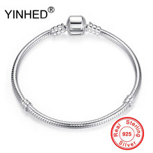 YINHED 95% OFF BIG SALE Authentic 100% 925 Sterling Silver Snake Chain Bangle & Bracelet Luxury Jewelry 17-21CM Women Gift ZB028(China)