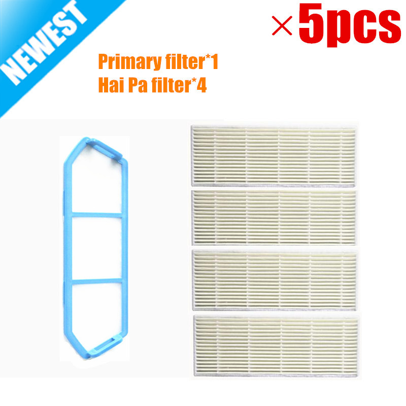 ILIFE A4 A4s Original Primary filter*1 + Hai Pa filter*4 for ILIFE A4s A4 robot Vacuum Cleaner Parts Accessory
