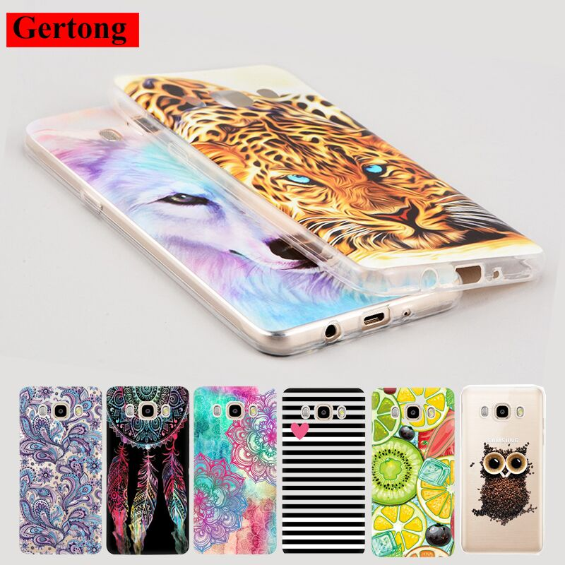 GerTong Soft TPU Patterned Phone Cover For Samsung Galaxy j5 2016 Case A8 J1 Mini A7 A5 A3 j5 j7 2017 Thin Fruit Summer Owl