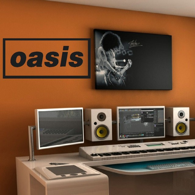 Music band logo oasis liam bedroom giant wall art sticker transfer decal diy wall art decal