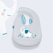 Baby Bibs Waterproof Silicone Feeding Saliva Towel Newborn Cartoon Aprons Adjustable Burp Cloths Bandana