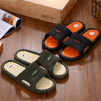 DAOKFPO Hot Beach Shoes Casual Men Sandals Slippers Summer Outdoor Flip Flops Flats Non-slip Bathroom Home Massage Slippers T-19 1