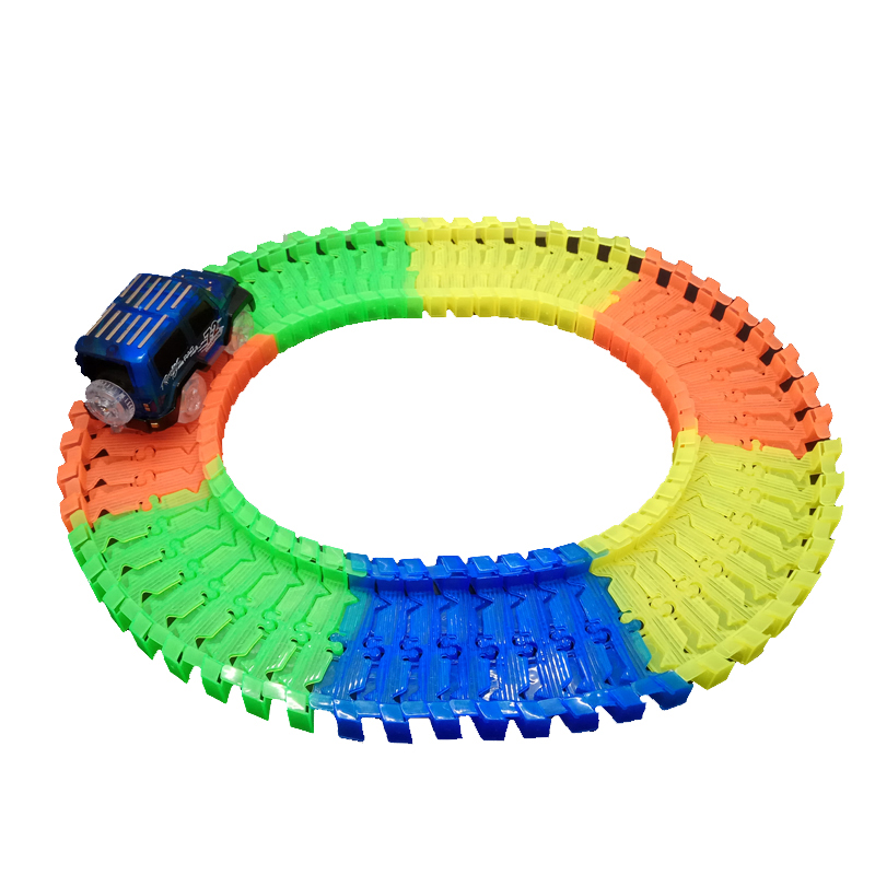 Glowing-Race-Car-Twister-Track-DIY-LED-Flashing-Light-Tracking-Rail-Glow-in-the-Dark-Flexible-Railway-for-Mini-Cars-Kids-4