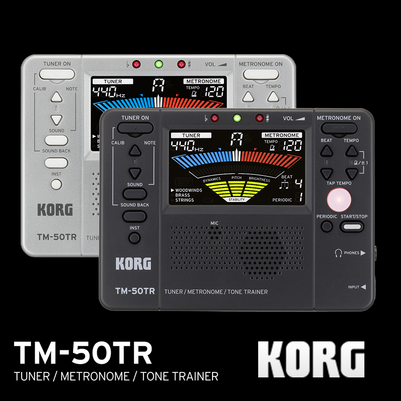 Korg TM50TR TM 50TR Universal Instrument Tuner Trainer Metronome Tone Trainer Periodic Metronome With color LCD