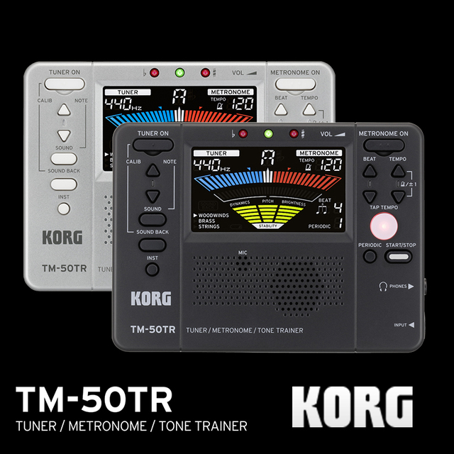 Korg TM50TR TM 50TR accordeur dinstruments universel/entraîneur métronome/entraîneur de tonalité métronome périodique avec écran LCD couleur pour Vionlin, saxo