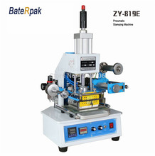 ZY-819E Автоматическая Штамповка Машина, кожа ЛОГОТИП биговки, давление машина слова, BateRpak имя карты тиснения