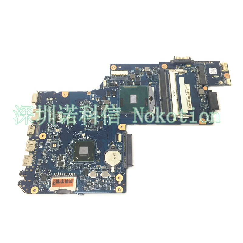 NOKOTION New H000052730 Laptop Motherboard for Toshiba Satellite C850 C855 L850 L855 C850-1HE C850-1CW HM70 chip free cpu works lenovo g5080