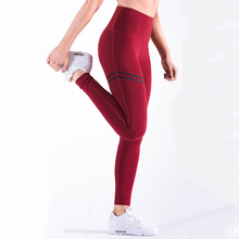 High waist solid color striped leggings yoga pants casual sports trousers free shipping high waist ruffle striped leggings