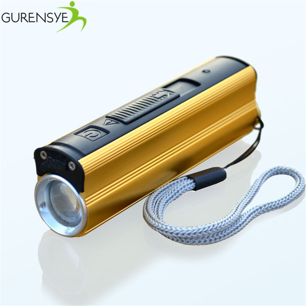 New bicycle light LED Flashlight 5W 3000mAh External Backup Battery Charger Power Bank Electronic Cigarette Lighter